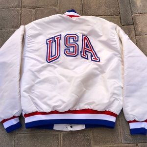 Vintage USA Central Ski Team Satin Jacket